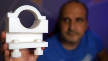 3D yazıcıda dremel için mengene bastım. Çok güzel oldu!